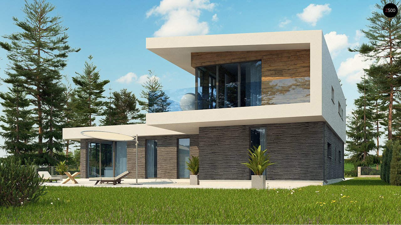 Плоская крыша у дома
